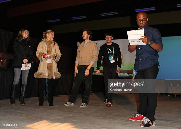 VP of HBO Documentary Films Sara Bernstein Writer Kim Morgan Director Ferdinando Cito Filomarino Filmmaker David OReilly and Sundance Film Festival...