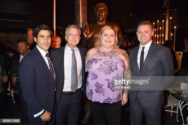 EVP of HBO Sports Peter Nelson Bill Simmons Robin Christiansen and Jason Hehir attend the Los Angeles Premiere of Andre The Giant from HBO...