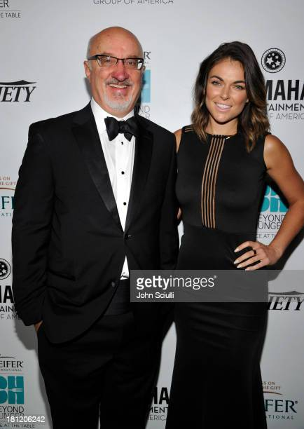 CEO of Heifer International Pierre Ferrari and actress Serinda Swan attend Heifer International's 2nd Annual 'Beyond Hunger A Place at the Table' to...