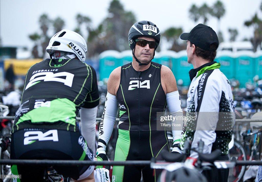 CEO of Herbalife Michael O. Johnson attends the LA Triathlon presented by Herbalife on September 25, 2011 in Los Angeles, California.