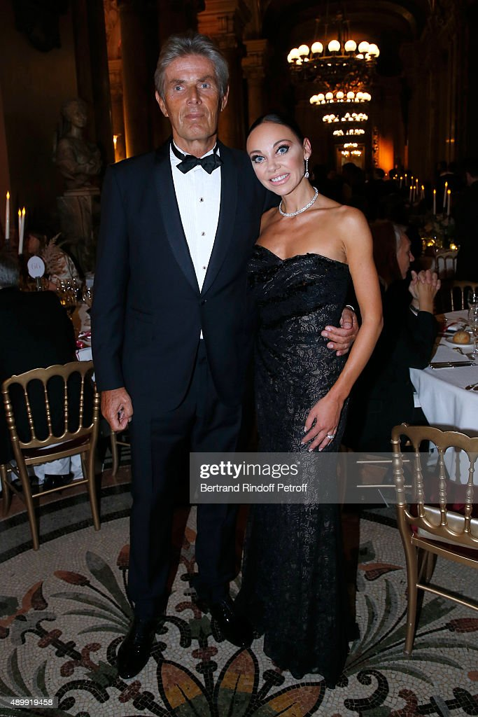 CEO of Hotel Barriere Dominique Desseigne (L) and his companion Dancer Alexandra Cardinale attend the Ballet National de Paris Opening Season Gala at Opera Garnier on September 24, 2015 in Paris, France.