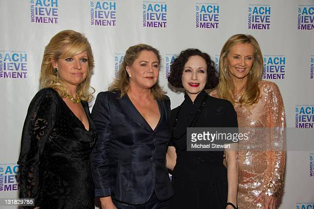 CEO of HSN Mindy Grossman actress Kathleen Turner actress Bebe Neuwirth and philanthropist Bonnie Pfeifer Evans attend the 26th Annual Women's...