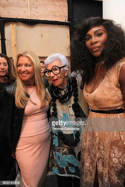 CEO of HSN Mindy Grossman Iris Apfel and Serena Williams attend as HSN Presents Serena Williams Signature Statement Collection Fashion Show at Kia...