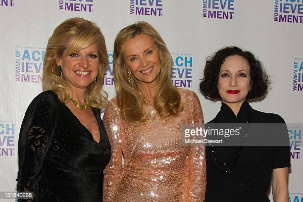 CEO of HSN Mindy Grossman philanthropist Bonnie Pfeifer Evans and actress Bebe Neuwirth attend the 26th Annual Women's Project's Women of Achievement...