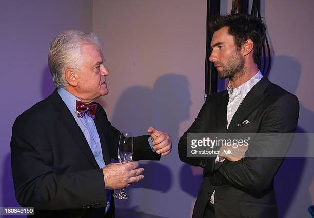 CEO of ID Perfumes Ilia Lekach and musician Adam Levine attend the Adam Levine launch of his signature fragrances at The Premier Fragrance...
