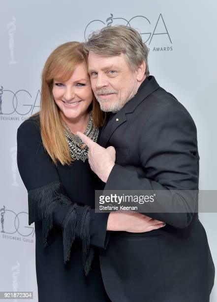 CMO of IMAX CDGA EP Emeritus JL Pomeroy and actor Mark Hamill attend the Costume Designers Guild Awards at The Beverly Hilton Hotel on February 20...
