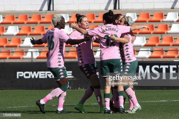 of in action during the Spanish League Primera Iberdrola women football match played between Valencia CF Femenino and Real Betis Balompie Femenino at...