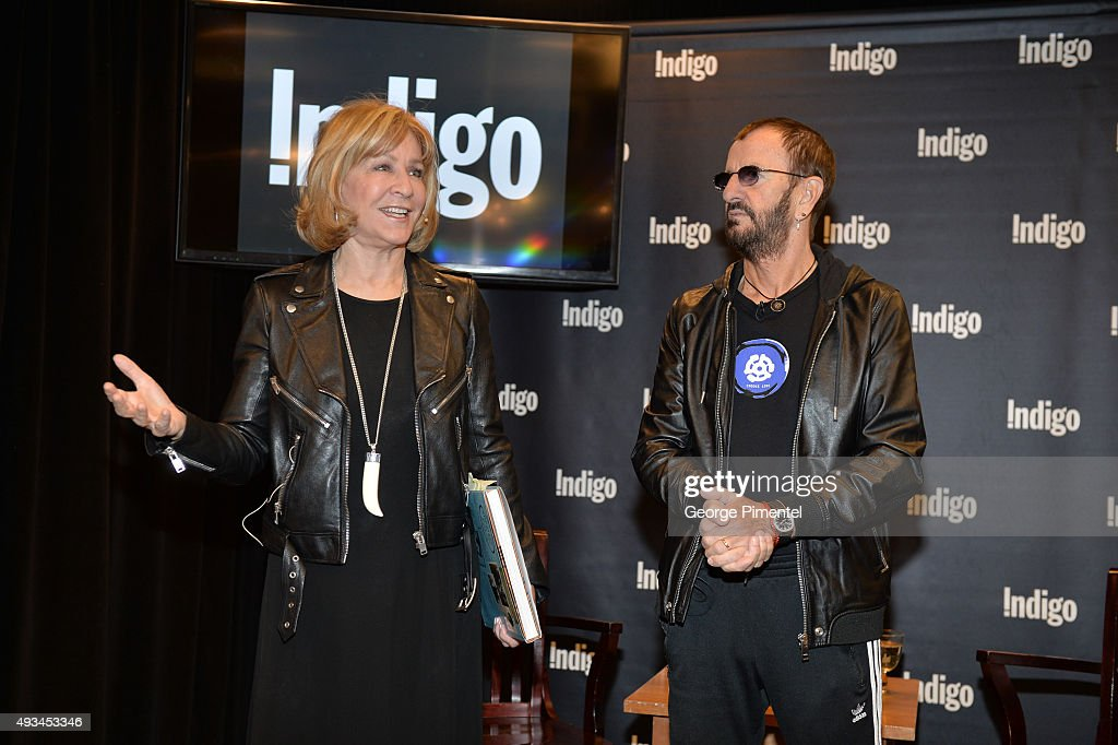 CEO of Indigo Heather Reisman and Ringo Starr launch the New Book 'Photograph' at Indigo Manulife Centre on October 20, 2015 in Toronto, Canada.