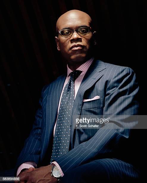 CEO of Island Def Jam Antonio 'LA' Reid is photographed for Newsweek Magazine in 2004