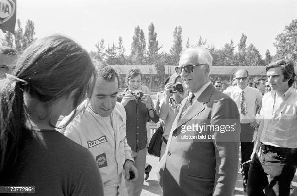 Regazzoni and Enzo Ferrari