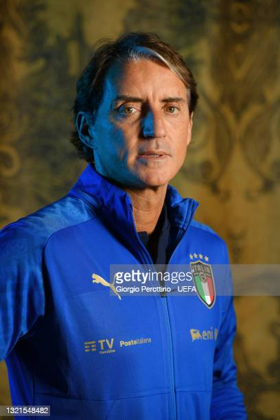 Of Italy poses during the official UEFA Euro 2020 media access day at on June 02, 2021 in Florence, Italy.