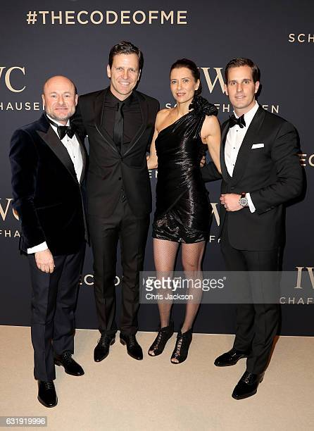 CEO of IWC Georges Kern Oliver Bierhoff Klara Bierhoff and Christoph GraingerHerr attend the IWC Schaffhausen 'Decoding the Beauty of Time' Gala...