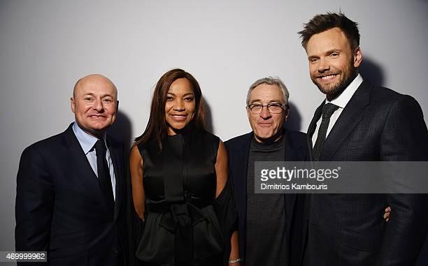 CEO of IWC Schaffhausen Georges Kern actress Grace Hightower TFF cofounder Robert De Niro and actor Joel McHale attend the IWC Schaffhausen Third...