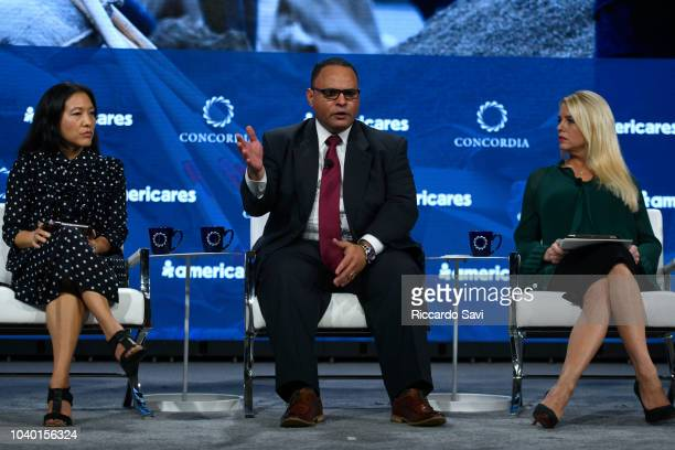 CEO of J/P Haitian Relief Organization Ann Young Lee Deputy Assistant Administrator of the US Department of Homeland Security Alex Amparo and...