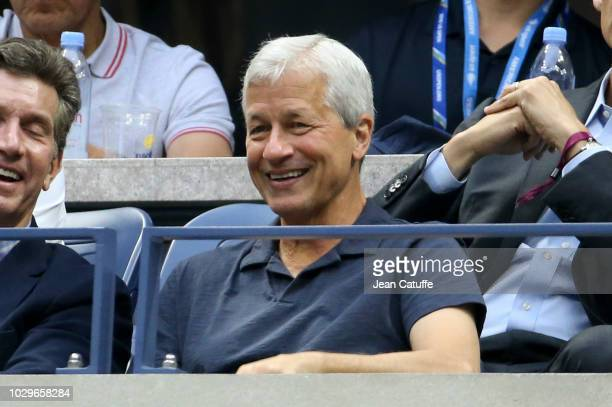 CEO of JPMorgan Chase bank Jamie Dimon attends the men's semifinals on day 12 of the 2018 tennis US Open on Arthur Ashe stadium at the USTA Billie...