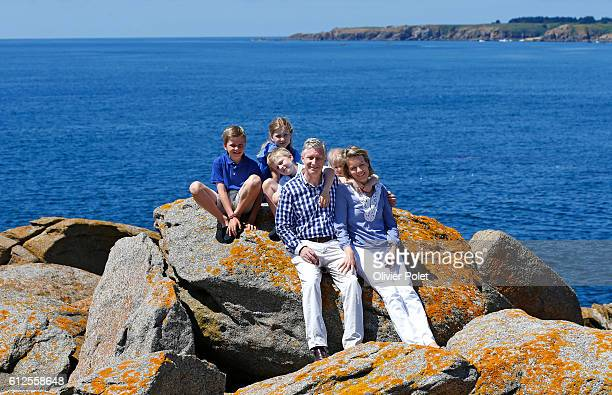 24 of July 2013 The new King Philippe and Queen Mathilde took some vacation with their children in France on the island of Yeu in Vendée THe kids are...
