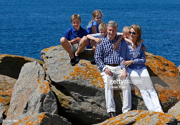 Of July 2013, The new King Philippe and Queen Mathilde took some vacation with their children in France on the island of Yeu in Vendée , THe kids are...