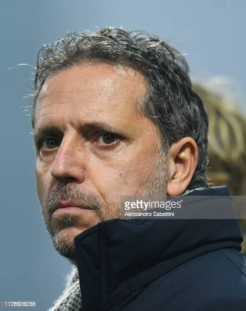 Of Juventus Fabio Paratici looks on during the Serie A match between US Sassuolo and Juventus at Mapei Stadium - Citta' del Tricolore on February 10,...