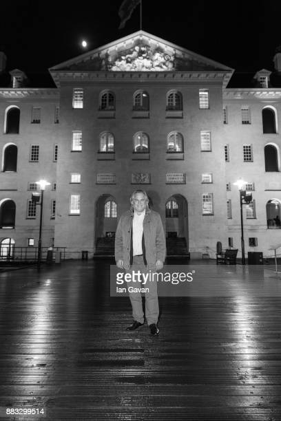 CEO of Kaspersky Lab Eugene Kaspersky poses in front of The National Maritime Museum ahead of a Christmas Dinner With Eugene Kaspersky on November 30...