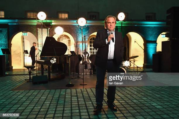 CEO of Kaspersky Lab Eugene Kaspersky speaks at a Christmas Dinner With Eugene Kaspersky on November 30 2017 in Amsterdam Netherlands