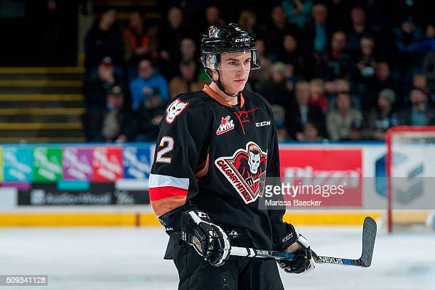 of Kelowna Rockets stands on the ice against the Kelowna Rockets on February 6 2016 at Prospera Place in Kelowna British Columbia Canada