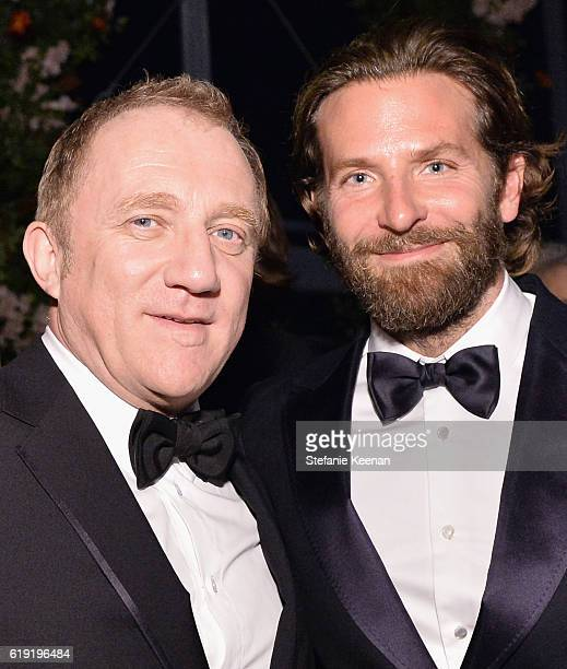 CEO of Kering FrancoisHenri Pinault and actor Bradley Cooper wearing Gucci attend the 2016 LACMA Art Film Gala Honoring Robert Irwin and Kathryn...