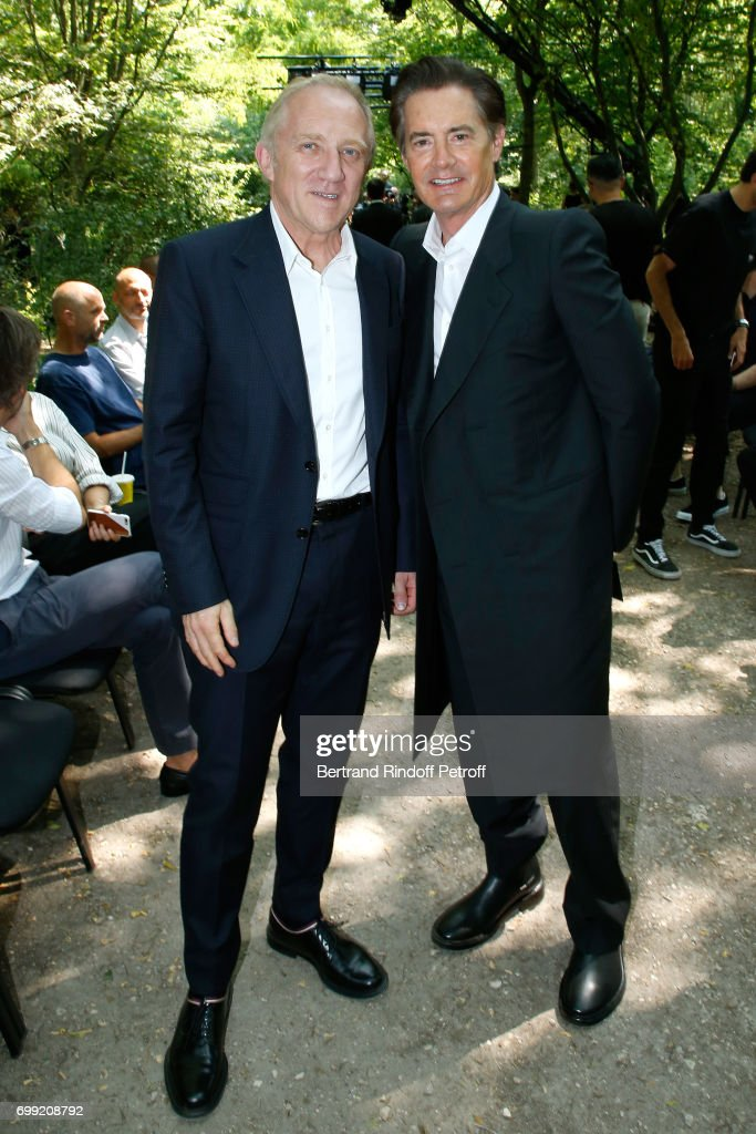 CEO of Kering Group, Francois-Henri Pinault and actor Kyle MacLachlan attend the Balenciaga : Menswear Spring/Summer 2018 show as part of Paris Fashion Week on June 21, 2017 in 'Bois de Boulogne', Paris, France.