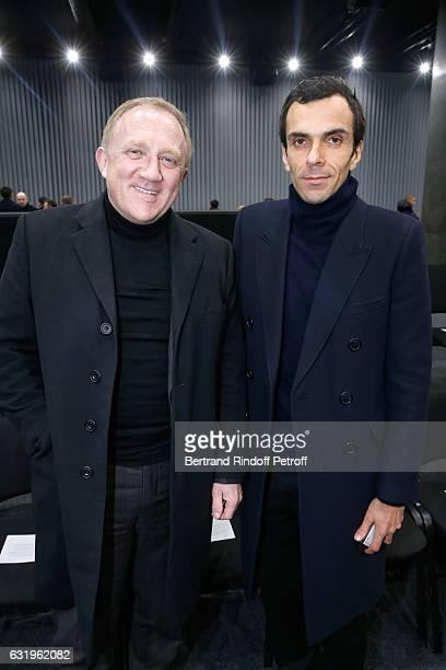 CEO of Kering Group FrancoisHenri Pinault and CEO Balenciaga Cedric Charbit attend the Balenciaga Menswear Fall/Winter 20172018 show as part of Paris...