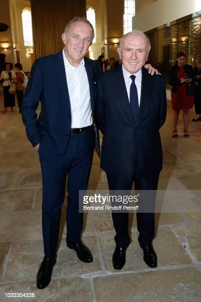 Of Kering Group, Francois-Henri Pinault and his father Francois Pinault attend the Kering Heritage Days Opening Night at 40 Rue de Sevres on...