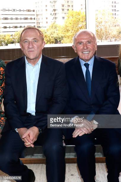 Of Kering Group, Francois-Henri Pinault and his father Francois Pinault attend the Giambattista Valli show as part of the Paris Fashion Week...