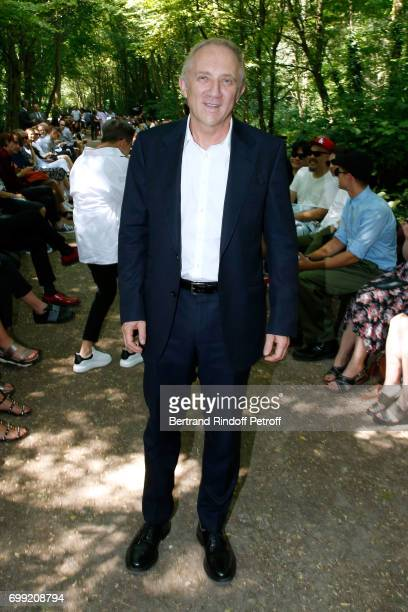 CEO of Kering Group FrancoisHenri Pinault attends the Balenciaga Menswear Spring/Summer 2018 show as part of Paris Fashion Week on June 21 2017 in...