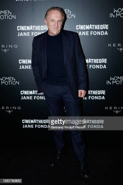 """Of Kering Group, Francois-Henri Pinault attends the Kering """"Women in Motion"""" Master Class With Jane Fonda At La Cinematheque Francaise at la..."""