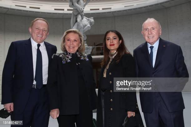 """Of Kering Group, François-Henri Pinault, Maryvonne Pinault, Salma Hayek and François Pinault attend the """"Bourse de Commerce - Pinault Collection,..."""