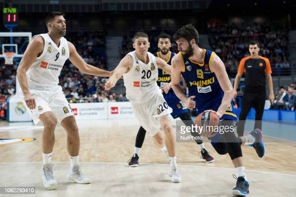 MARKOVIC of Khimki Moscow in action during the 2018/2019 Turkish Airlines EuroLeague Regular Season Round 7 game between Real Madrid and Khimki...