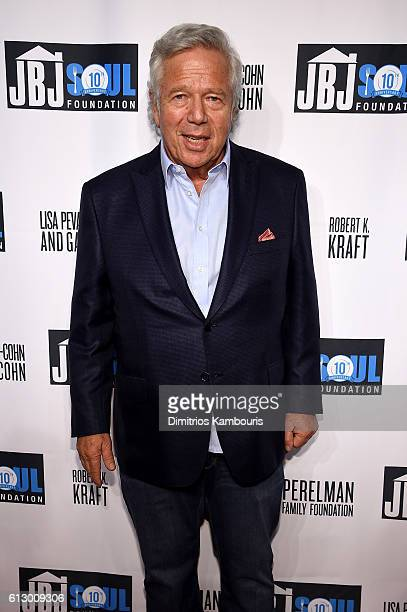CEO of Kraft Robert Kraft attends the Jon Bon Jovi Soul Foundation's 10 year anniversary at the Garage on October 6 2016 in New York City