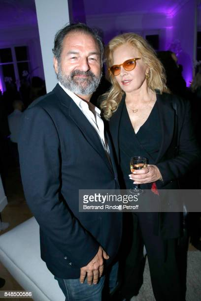 CEO of Lagardere Active Denis Olivenne and Sylvie Vartan attend the Dinner after Sylvie Vartan performed at L'Olympia on September 16 2017 in Paris...