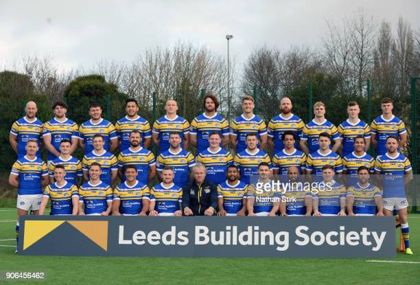 of Leeds Rhinos poses for a portrait during the Leeds Rhinos Media Day at Leeds Rugby Academy on January 18 2018 in Leeds England
