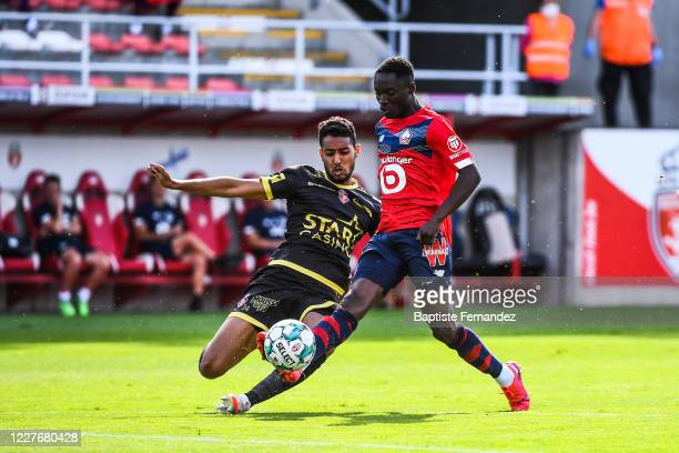CAPITA of Lille during the Friendly match between Lyon and Mouscron on July 18 2020 in Mouscron Belgium