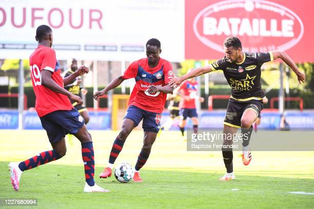 CAPITA of Lille during the preseason soccer friendly match between Lille and Mouscron on July 18 2020 in Mouscron Belgium