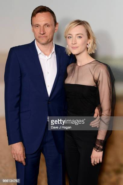 CEO of Lionsgate UK and Europe Zygi Kamasa and Saoirse Ronan attend a special screening of 'On Chesil Beach' at The Curzon Mayfair on May 8 2018 in...