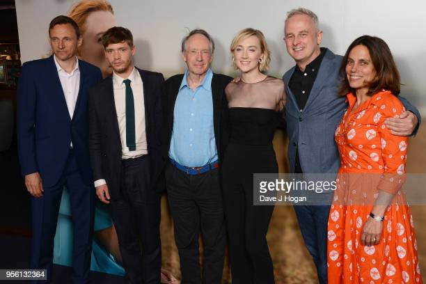 CEO of Lionsgate UK and Europe Zygi Kamasa Billy Howle writer Ian McEwan Saoirse Ronan director Dominic Cooke and producer Elizabeth Karlsen attend a...