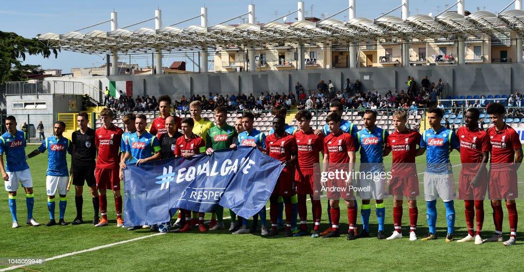 Napoli U19 v Liverpool U19 - UEFA Youth League : News Photo