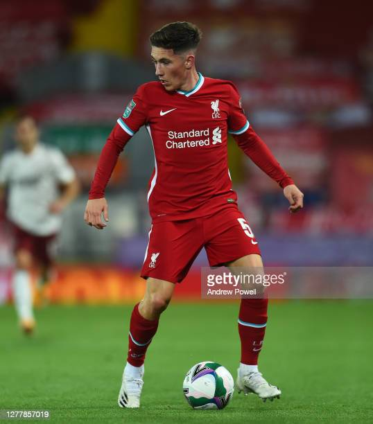 Of Liverpool during the Carabao Cup fourth round match between Liverpool and Arsenal at Anfield on October 01, 2020 in Liverpool, England. Football...