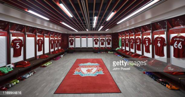 of Liverpool during the Premier League match between Liverpool FC and Arsenal FC at Anfield on August 24 2019 in Liverpool United Kingdom