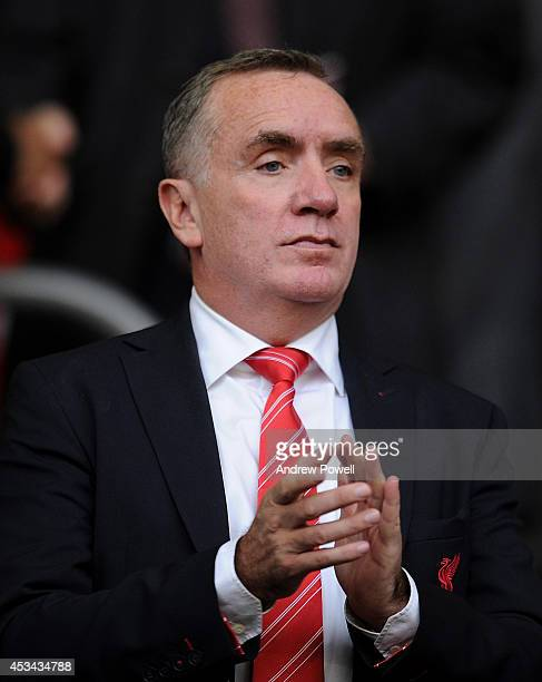 Of Liverpool Ian Ayre looks out to the pitch before the Pre Season Friendly match between Liverpool and Borussia Dortmund at Anfield on August 10,...