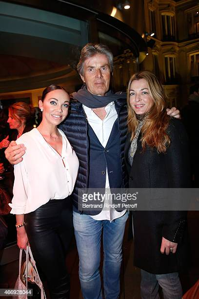 CEO of Lucien Barriere Group Dominique Desseigne standing between Alexandra Cardinale and Arabelle ReilleMahdavi attend the Cocktail for the Cinema...
