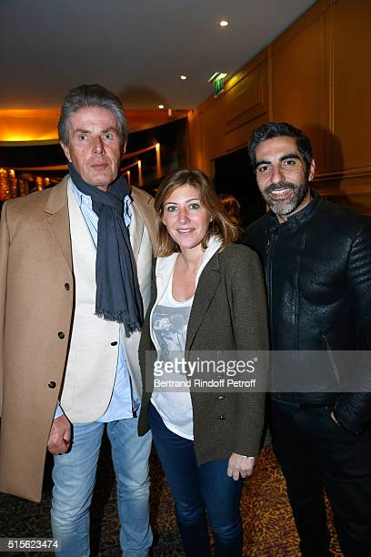 CEO of Lucien Barriere Group Dominique Desseigne Writer Amanda Sthers and Actor Ary Abittan attend the Cocktail following the Premiere of Five...