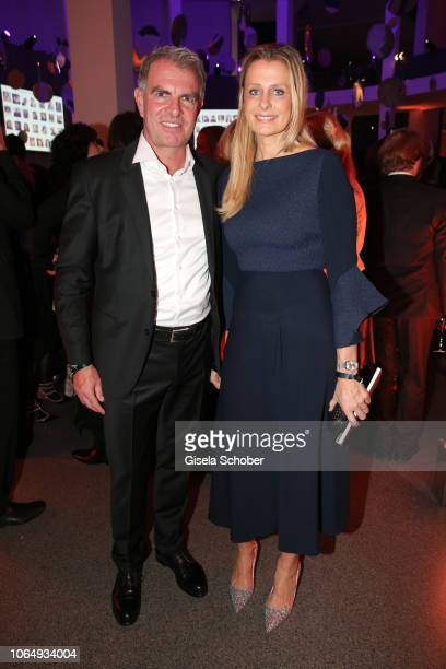 CEO of Lufthansa Carsten Spohr and his wife Vivian Spohr during the PIN Party at Pinakothek der Moderne on November 24 2018 in Munich Germany