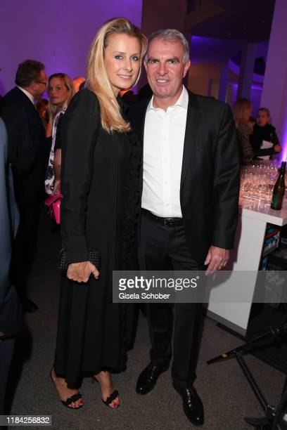 CEO of Lufthansa Carsten Spohr and his wife Vivian Spohr during the PIN Party at Pinakothek der Moderne on November 23 2019 in Munich Germany