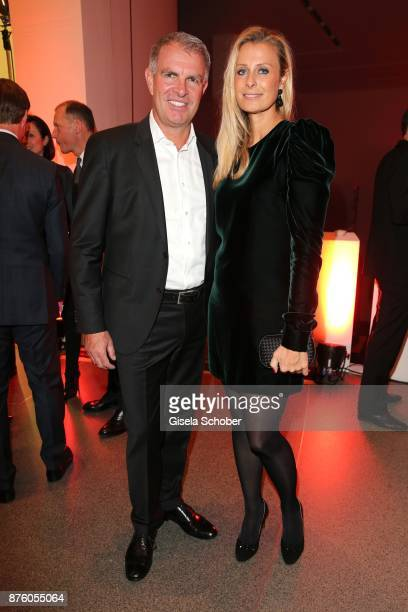 CEO of Lufthansa Carsten Spohr and his wife Vivian Spohr during the PIN Party 'Let's party 4 art' at Pinakothek der Moderne on November 18 2017 in...